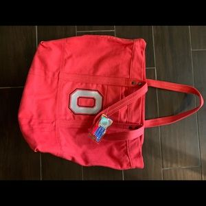 Ohio state zippered tote